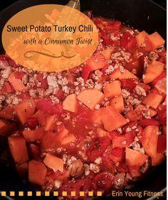 Sweet Potato Turkey Chili with a Chinnamon Twist!  #healthychili