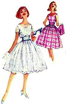 Fifties dress - loved this style - I thought they were movie stars all dressed up like that - lol