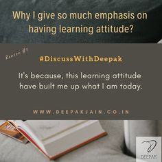Reason for why I give so much emphasis on having learning attitude? Because, your 30 minutes daily learning can guide your career path and life. Technology Consulting, Learning For Life, How To Become Smarter, Startup Entrepreneur, Life Challenges, Lets Do It, Blog Writing, App Development, Digital Marketing