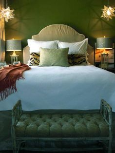 Eye For Design: Olive Green Interiors