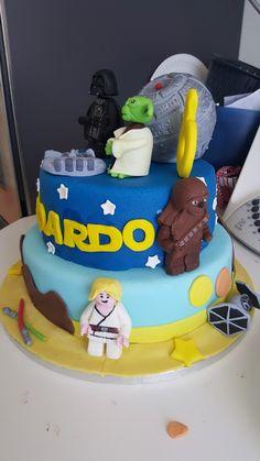 Star wars birthday cake Star Wars Birthday Cake, Desserts, Food, Tailgate Desserts, Deserts, Essen, Postres, Meals, Dessert