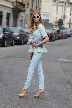 All Blue Outfit #PreciousMetals #Aquamarine #March
