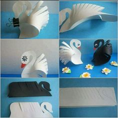 Paper Animal Crafts, Bird Paper Craft, Fall Paper Crafts, Toilet Paper Crafts, Animal Crafts For Kids, Paper Animals, Paper Crafts Origami, Craft Activities For Kids, Diy Arts And Crafts