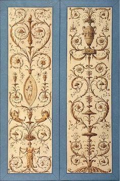Cave to Canvas, Charles-Louis Clérisseau,Arabesque Design for...