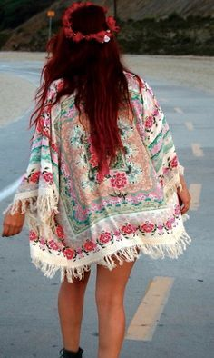 #boho #floral #kimono