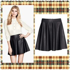 Maddi Faux Leather Skirt Free Shipping by VintageLaceInc on Etsy, $19.99