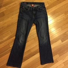 "Lucky Brand Jeans Sweet N Low Authentic & Original ☘ Lucky Brand Jeans  all time favored pants, the ""Sweet N Low"". These bad boys are size 6/28 with a short inseam, 30 inches. Made 100% in the good old USA  (like all the original LBJ items were). ♻️USED♻️, but as you can see have been  taken care  of with little to no fading. Considered more of a flare than a boot cut, but it's not a dramatic flare. Lucky Brand Jeans Flare & Wide Leg"