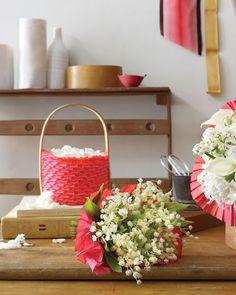 DIY directions~Pleated Ribbon Basket - Martha Stewart Weddings Inspiration