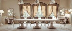 🇮🇹Made in Italy. Order NOW: 📞+971 58 808 45 25 superbiadomus@gmail.com Delivery worldwide✈️🌍 Classic Dining Room, Delivery, Italy, Curtains, Home Decor, Italia, Blinds, Decoration Home, Room Decor