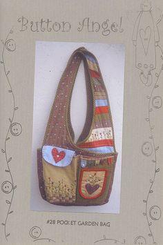 The Bobbin Patch :: Patterns :: Button Angel :: Pocket garden bag