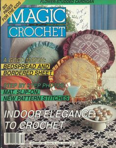 Vintage Magic Crochet Magazine Back Issue December 1991 Number 75 Crochet Doily Patterns