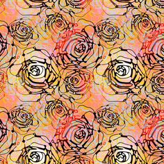 I like both but I LOVE the way this looks printed on silk...    Roses on coral fabric by art_is_us on Spoonflower - custom fabric