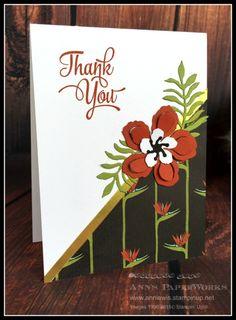 Botanical Gardens DSP, One Big Meaning Stamp Set, Botanical Builder Framelits Dies #stampinup Ann's PaperWorks Ann Lewis Australia online shop 24/7 CASE Sarah Gillen http://www.stampinup.net/esuite/home/annlewis/blog?directBlogUrl=/blog/4008226/entry/always_need_a_thank_you