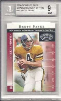 Brett Favre 2000 Donruss Preferred #41 Beckett Mint 9 by Donruss. $20.00. This is a Brett Favre graded card. It would make a great addition to any card collection.