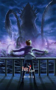 (Fate/Zero) Ryuunosuke and Caster's monster.