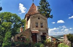 HOUSE ON A HILL IN SIGHISOARA, ROMANIA