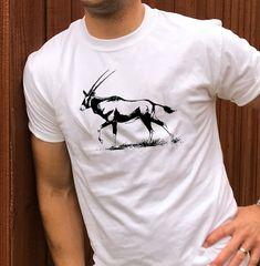 Gemsbok Body Kalahari T shirt Wildlife Safari, Kruger National Park, African, Mens Tops, T Shirt, Fashion, Tee, Moda, La Mode