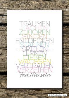 Dieser Print macht keine großen Worte, sagt aber eigentlich alles: Wir sind Familie.