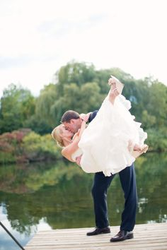 I want a picture like this on your dock @brims events! Only, not in wedding attire haha