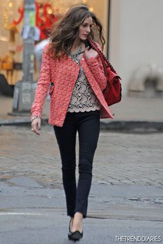 Olivia Palermo at a Photoshoot in New York City, New York - December 10, 2012