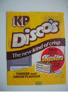 Rare KP Disco's packet Old Sweets, Vintage Sweets, Retro Sweets, 1970s Childhood, My Childhood Memories, Gourmet Food Store, Gourmet Recipes, Crisps Brands, 80s Food