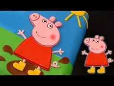 Peppa Pig Cake - How To Tutorial. Dort Prasátko Pepina, My Crafts and DIY Projects