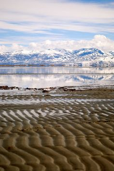 Great Salt Lake, Utah. Another pretty place.   We had incredible views of the mountains from our hotel too.