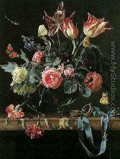 Vase Of Flowers - Willem Van Aelst