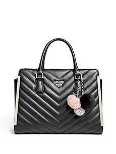 Lenora Quilted Satchel | Guess Factory Canada