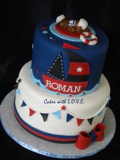 Nautical theme baby shower By CakeswLove on CakeCentral.com