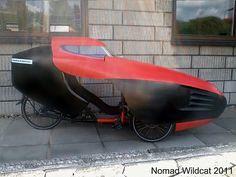 2011 Nomad Wildcat - Leitra Wildcat fairing on a Steintrike Nomad Sport recumbent trike.