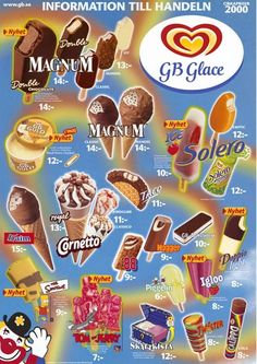 Ice Cream Prices, Pop Tarts, Vintage Posters, Sweden, Cereal, Snack Recipes, Chips, Cookies, Retro