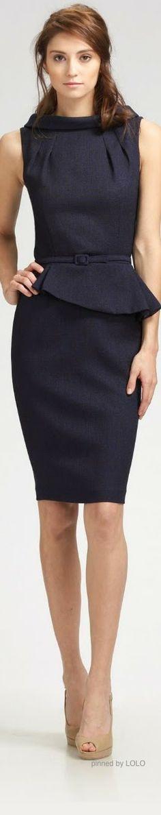 David Meister sleeveless suit dress