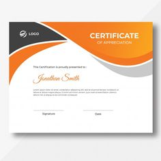 Orange and black waves certificate desig... | Premium Psd #Freepik #psd #template #graduation #achievement #appreciation #award #background #certificate #certification #frame #flyer #brochure #cover #waves #orange #black #grey Certificate Of Achievement Template, Certificate Design Template, Real Estate Slogans, Real Estate Logo, Design Plat, Award Template, Plan Sketch, Certificate Of Appreciation, Stationery Items