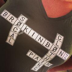 BRØKINBØNZ Crossword Puzzle Tee #brands #actionsports #celebratingpain #brokinbonz