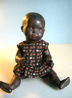 Celluloid Mambi baby doll with turtle mark, Germany, 1925, by Rheinische Gummi.