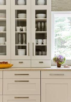 Rachel Reider Interior Designs kitchen hardware on white cabinets