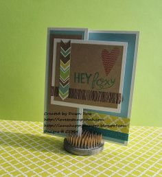 CTMH February Stamp of the Month: Wild about Love card - Hey foxy z-fold card by Dawn Ross at http://iamahappystamper.blogspot.com