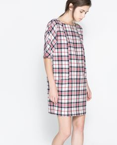 Desperately want this dress #Zara #checks #tartan #dress #pattern #need
