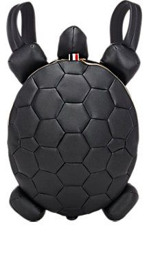 Thom Browne Turtle Medium Backpack at Barneys New York Leather Purses, Leather Bag, Novelty Bags, Animal Bag, Cute Backpacks, Boho Bags, Craft Bags, Leather Keychain, Kids Bags