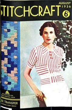 Stitchcraft August 1936 free vintage crochet pattern
