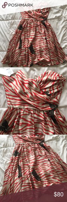 Red White Stripped Strapless Dress New, excellent condition. Bought it and never wore it. Looks beautiful on! Corey Lynn Calter Dresses Strapless
