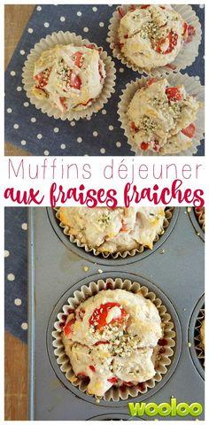 Voici les meilleures muffins à déjeuner de tous les temps: Muffins déjeuner aux fraises fraiches #guideétoiles @provigo