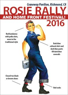 How to dress up like Rosie the Riveter - an inspiring Halloween costume idea from these important women in US history.