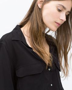 Image 2 of SHIRT WITH POCKETS from Zara