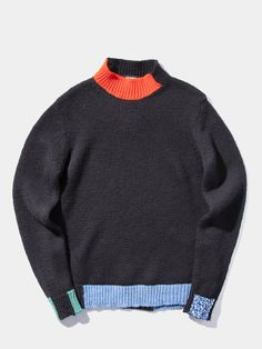 Knitted Mockneck Sweater Knitwear Fashion, Knit Fashion, Mens Fashion, Raf Simons, Vintage Sweaters, Street Style Women, Sportswear, Street Wear, Men Sweater