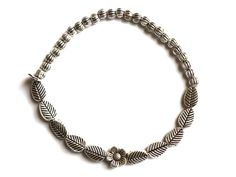 Metal Stretch Elastic Bracelet with Flower charm, bridemaid bracelet