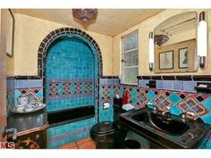 Interesting Spanish Revival tile job