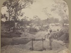 1860 Old Miner Family | Central Goldfields History Victoria: Caralulup State School