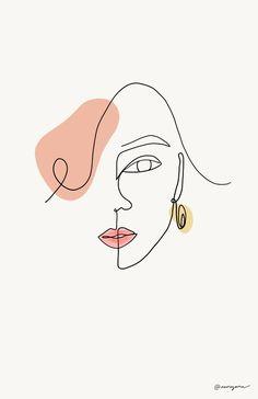 Small Canvas Art, Mini Canvas Art, Abstract Face Art, Outline Art, Line Art Design, Art Drawings Sketches, Minimalist Art, Doodle Art, Line Drawing